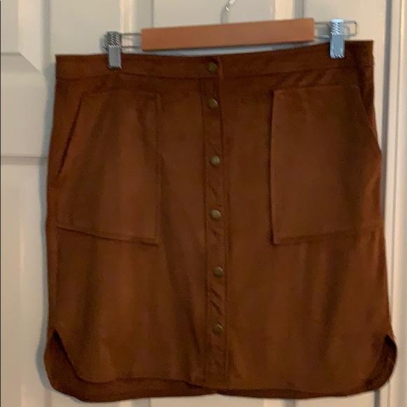 Jolt Dresses & Skirts - Jolt brown faux suede skirt size 11